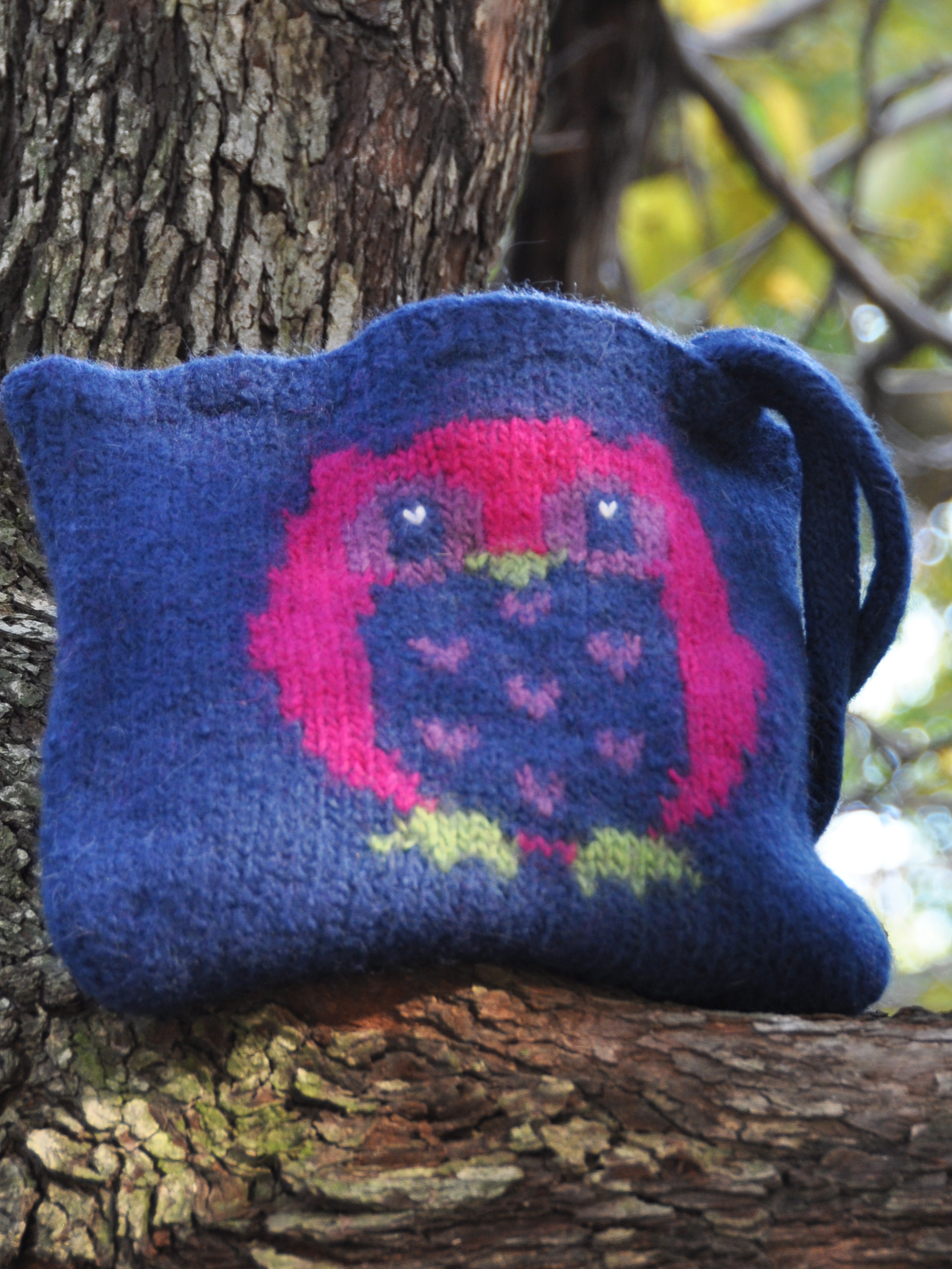 """Owl Always Love You"" Felted Purse"