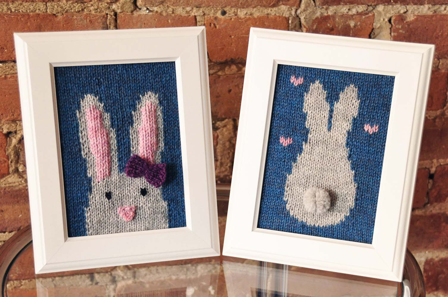 """Some Bunny Loves You"" Knitted Wall Art"
