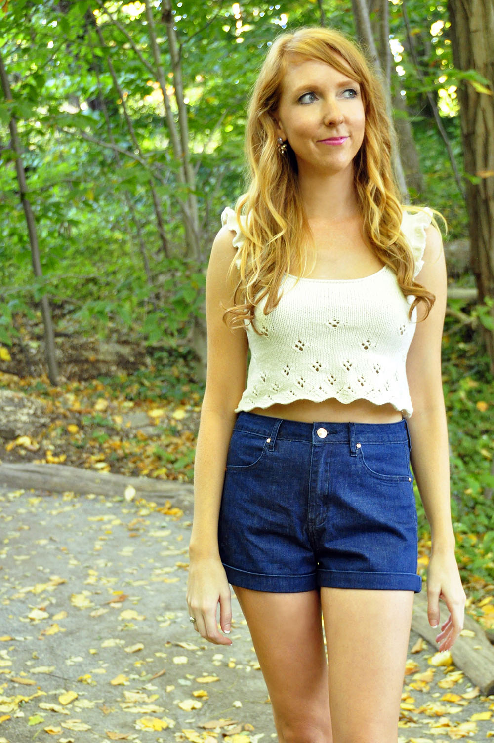 "Crop Top Knitting Pattern Free : ""twirl of your dreams crop top and skater skirt set"
